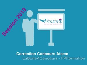 Correction du concours Atsem session 2019