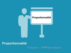 proportionnalite
