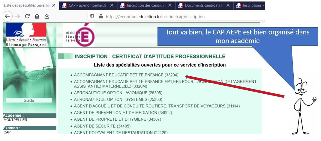 Ouverture des inscriptions au CAP AEPE