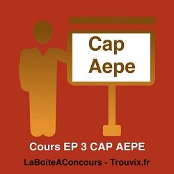Cours EP3 CAP AEPE