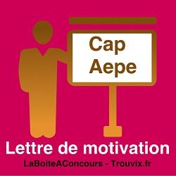 Lettre de Motivation CAP AE Petite Enfance